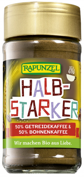 Halbstarker Instant 50% Getreidekaffe & 50% Bohnenkaffee