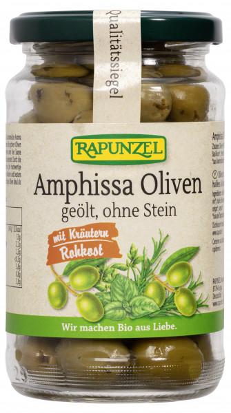Amphissa Oliven mit Kräutern, ohne Stein geölt