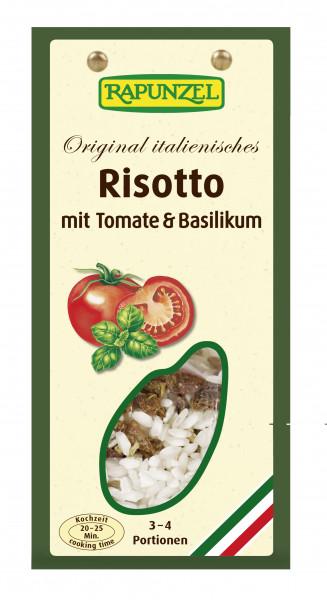 Risotto mit Tomaten und Basilikum