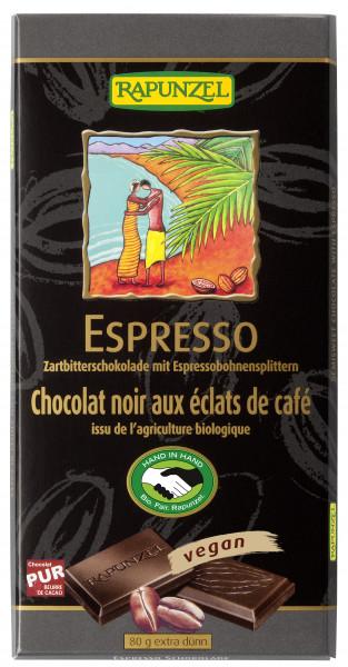 Zartbitter Schokolade mit Espresso-Splittern 51%