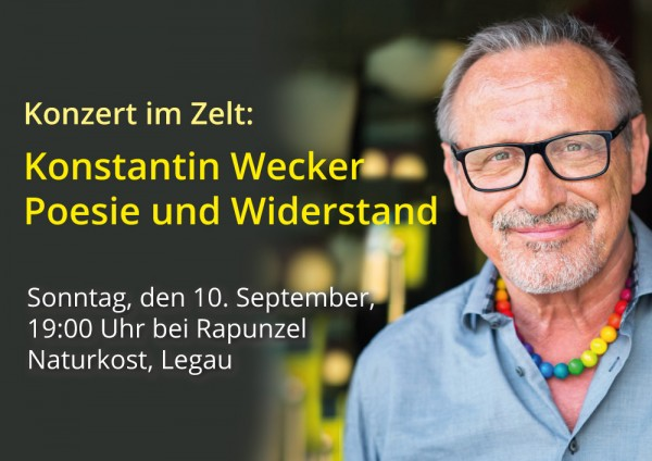 """Eintrittskarte Konstantin Wecker Konzert """"Poesie und Widerstand"""""""