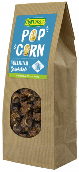 Popcorn mit Vollmilchschokolade