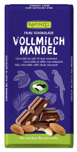 Vollmilch Schokolade mit ganzen Mandeln, 200g