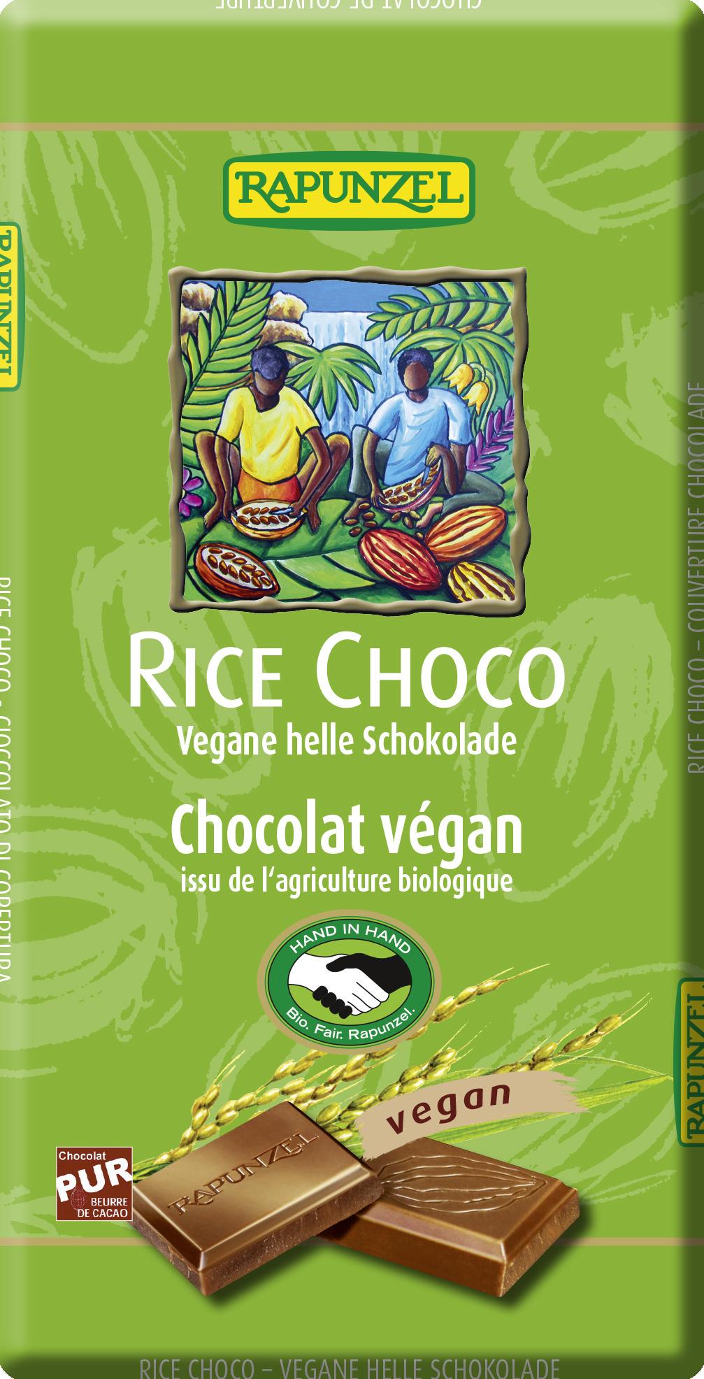 rice choco vegane helle schokolade vegan schokolade produkte rapunzel onlineshop. Black Bedroom Furniture Sets. Home Design Ideas