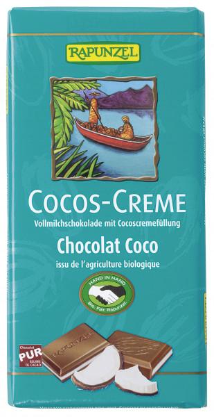 Cocos Creme Vollmilch Schokolade gefüllt