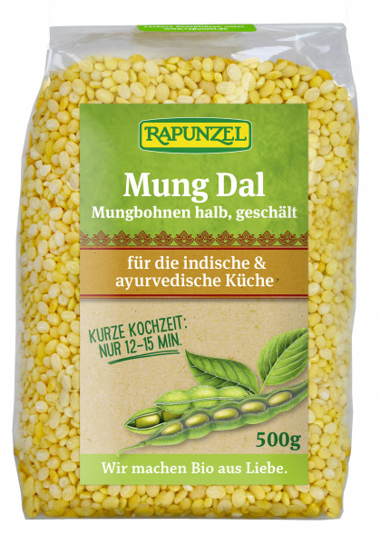 Mung Dal, Mungbohnen halb, geschält