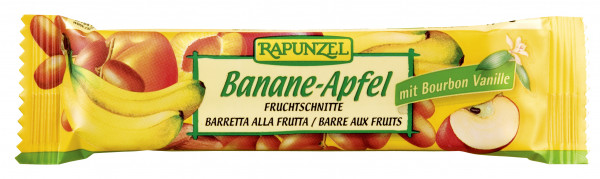 Fruchtschnitte Banane-Apfel