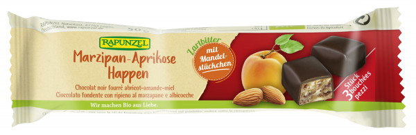 Marzipan-Aprikose Happen Zartbitter