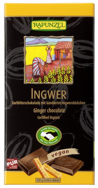 Zartbitter Schokolade Ingwer 55%