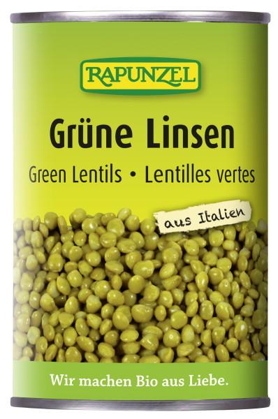 Grüne Linsen in der Dose