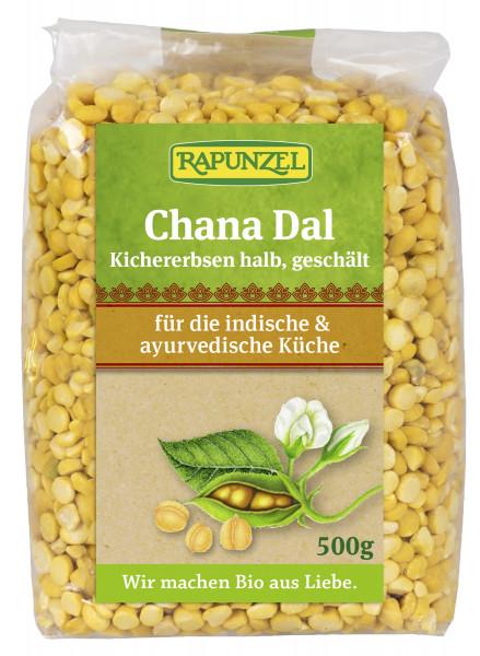 Chana Dal, Kichererbsen halb, geschält
