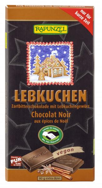 Zartbitterschokolade mit Lebkuchengewürz