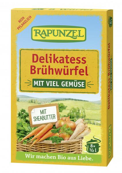 Gemüse-Brühwürfel Delikatess mit viel Gemüse und Bio-Hefe