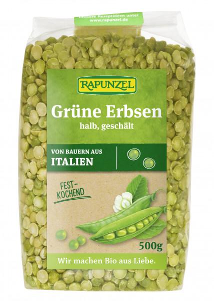 Erbsen grün, halb, geschält
