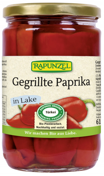 Paprika gegrillt rot, in Lake