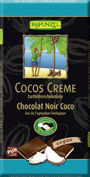 Cocos Creme Zartbitter Schokolade gefüllt