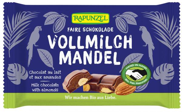 Vollmilch Schokolade mit ganzen Mandeln