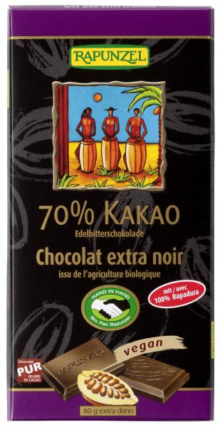 Edelbitter Schokolade 70% Kakao (Rapadura)