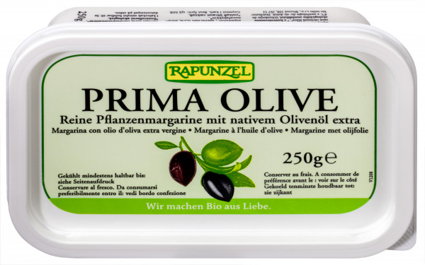 Pflanzenmargarine Prima Olive mit Olivenöl