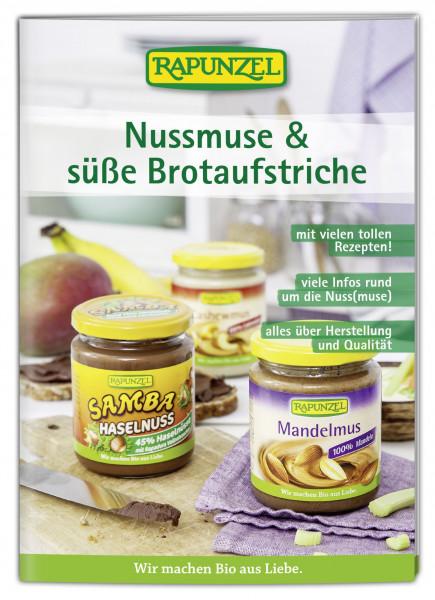 Infobroschüre Nussmuse und süße Brotaufstriche