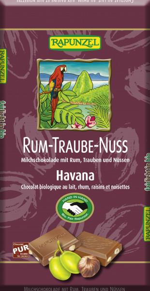 Rum-Trauben-Nuss-Vollmilch Schokolade