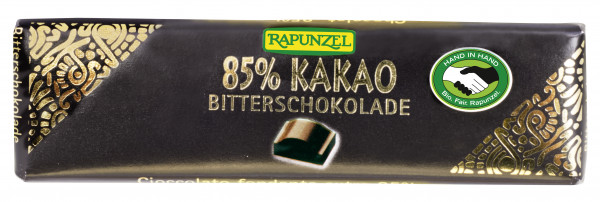 Bitterschokolade Täfelchen 85%