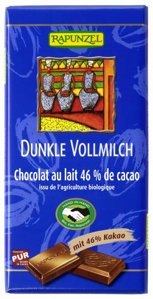 Vollmilch Schokolade Dunkel 46%