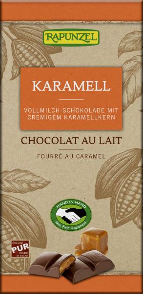 Vollmilch Schokolade mit Karamellfüllung