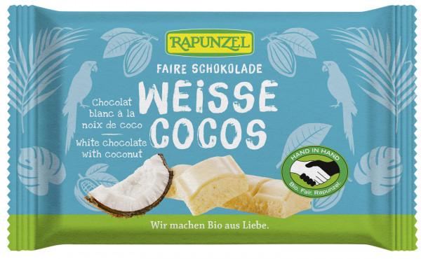 Weiße Schokolade mit Kokosstückchen